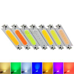 Wholesale Epistar Red Led Chip - 10pcs 60x15mm 2W COB LED Strip Light Source Chip Warm Cool White Red Green Blue Orange 12V Lamp Bulb 60mm