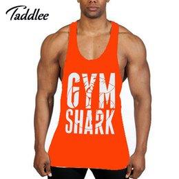 Wholesale Singlet Tshirts - Wholesale- Men Tank Top Singlets Stringers Sleeveless Man Top Tees Shirts Cotton Hip Hop Brand Tshirts Man Gasp Tank Shirt Muscle