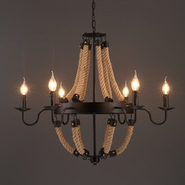 Wholesale Edison Industrial - Luxury Retro rope Industrial pendant Lights edison Vintage Restaurant Living bar Light American Style nordic fixtures lighting