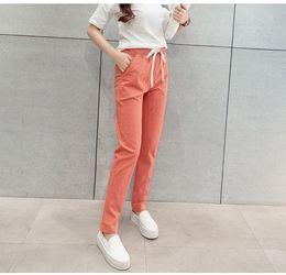 Wholesale Women Harem Pants Korea - young girl loose harem pant casual trousers Korea style street fashion high brand quality 5size 6colors