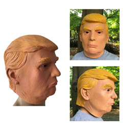 Wholesale Wholesale Human Masks - USA President Candidate Mr Trump Latex mask Human Latex Face Mask Billionaire Presidential Donald Trump Latex Mask Wholesale price