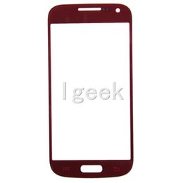 Wholesale I9195 Cell - Best Quality Front Outer Touch Screen Glass Replacement for cell phone Samsung Galaxy s4 Mini i9190 i9195 free DHL