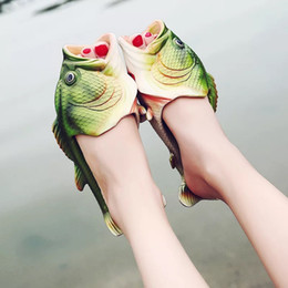 Wholesale Booties Shoes For Men - Designer Slippers Creative Fish-shaped Slippers for Men Women Kids SUMMER SHOES Cool Scuffs Beach Slippers Children's Parent-child Shoes