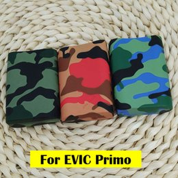 Wholesale Evic Wraps - new design Camouflage Fashion colorful silicone Soft case skin   silicone cover   silicone sleeve for joytech evic primo 200w Box mod Wrap