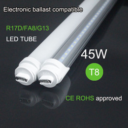 Wholesale Electronic Energy Saving - First factory T8 Electronic Ballasts Compatible Led Tube FA8 45w High Lumens Direct replace 2400mm Fluorescent Lamps 8ft led lamp wholesale