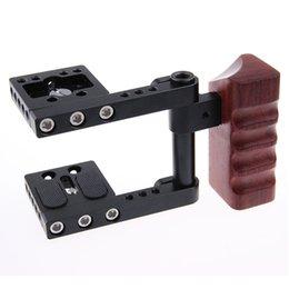 Wholesale Pocket Cinema Camera - CAMVATE Wood Grip DSLR Rig Baseplate BMPCC Cage Kit for BlackMagic Pocket Cinema Camera