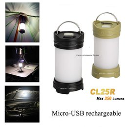 Wholesale Fenix Lights - Wholesale-Fenix CL25R Camping light 350 Lumens Micro-USB rechargeable 18650 anti-glare camping lantern equipment lamp