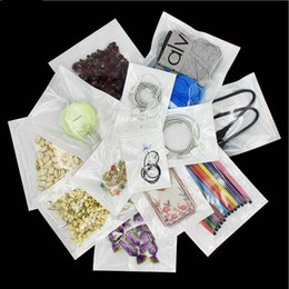 Wholesale Clear Plastic Craft Jewelry Bags - Best Quality Clear + white pearl Plastic Poly OPP packing zipper Zip lock Retail Packages Jewelry food PVC plastic bag many size available