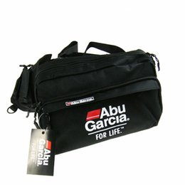 Wholesale Abu Garcia Tackle Bags - Wholesale- Hot!! 1PCS ABU GARCIA Waist Tackle Bag pockets Fishing Tackle Bags Fishing Bag fly lure Waterproof fabrics pockets