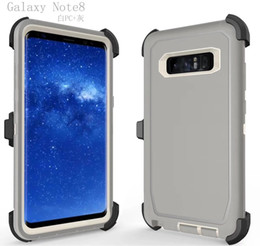 Wholesale Defender Silicone - Robot Outdoor ShockProof Hard Plastic+Soft TPU Case With Clip Belt For Iphone X 7 6 6S Plus Galaxy Note 8 S8 S7 Defender Armor Combo Cover