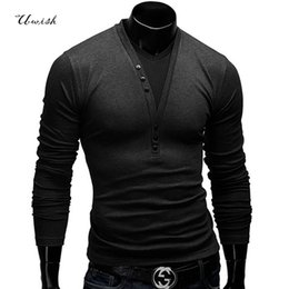 Wholesale Long Sweater Xs - Wholesale- top fashion 2015 men sweaters long eden park casual pullovers v-neck long shirts, fitness blusa masculina, men's clothing