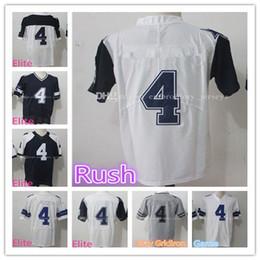 Wholesale Elite S - Men's #4 Dak Prescott jerseys High quality Prescott JERSEY 100% Stitched Logos Game Elite Rush Gray Gridiron Jersey Free shipping