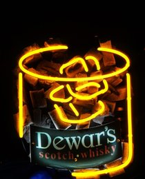 Wholesale Whisky Bar Signs - New Tat tire Neon Beer Sign Bar Sign Real Glass Neon Light Beer Sign ME 544-Dewar's Scotch Whisky 14x12