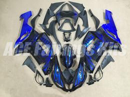 Wholesale Blue Kawasaki Fairing Kits - 4Gifts New ABS fairings kit for Kawasaki ZX-6R 2007 2008 Ninja plastic ZX6R 07 08 636 ZX 6R zx636 motobike parts fairing kits blue Flame