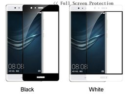 Wholesale Huawei Ascend P6 Protective - For Huawei P9 HuaWei P9 Plus Tempered Glass Screen Protector Protective Film Full Cover Protector Film In box