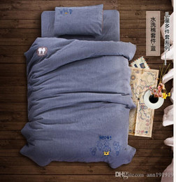 Wholesale Blue Beds - BABY KIDS BEDDING SETS NURSEY BEDDING SOLID CUTE FOR CHILD