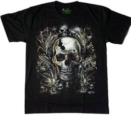 Wholesale Party Shirts For Men - BIG SKULL T-SHIRT M L XL 2XL GLOW IN THE DARK PARTY GR-298 BIKER CHOPPER - 5 Summer The New Fashion for Short Sleeve