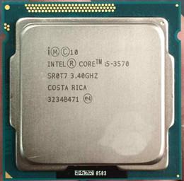Wholesale Lga Processor Socket - I5 3570 Original for Intel I5 3570 Processor Quad-Core 3.4Ghz L3=6M 77W Socket LGA 1155 Desktop CPU