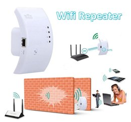 Wholesale wireless router range extender - Wireless Wifi Repeater 300Mbps Extender IEEE 802.11n b g Network Router Range Booster Free Shipping
