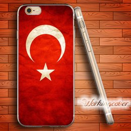 Wholesale Turkey Cover - Fundas Turkey Flag Soft Clear TPU Case for iPhone 7 6 6S Plus 5S SE 5 5C 4S 4 Case Silicone Cover.