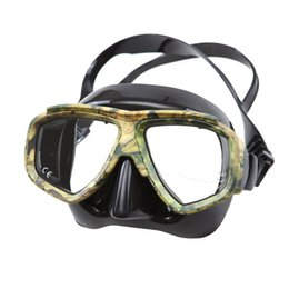 Wholesale Wholesale Dive Gear - Wholesale- Disguise Camouflage Scuba Dive Mask Myopic Optical Lens Snorkeling Gear Spearfishing Swim Goggles Diving Swimming Mask