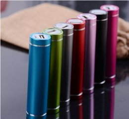 Wholesale Cheap Mobile Phone Portable Chargers - Cheap Power Bank Portable 2600mAh Cylinder External Backup Battery Charger Emergency Power Pack Chargers for all Mobile Phones USB Cable