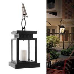 Wholesale Outdoor Candles Lanterns - Wholesale- Home House Outdoor Candle Lantern Ni-Cd Solar Powered Landscape Umbrella Lantern Hang Lamp LED Bulbs Light