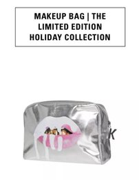Wholesale Sliver Bags - Kylie Holiday Makeup Bags Kylie jenner Cosmetics Bag the Limited Birthday Collection Edition Brand Make up Sliver and Black Cosmetic Bag