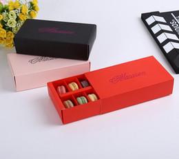 Boîtes à cadeaux de pâtisserie en Ligne-12 Tasses Macaron Boîte Emballage Tiroir Type Biscuit Pâtisserie Chocolat Gâteau Boîtes Pour Cadeau De Fête De Mariage
