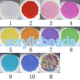 Wholesale Cheap Plastic Hearts - 10000 pcs Cheap 1.5 MM Acrylic Opaque Round Bead Solid Plastic Small Beads No Hole