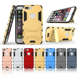 Wholesale Iron Man Cases - For iPhone 7 7Plus 6S 6sPlus SE Iron Man Hybrid Armor Case For Samsung Galaxy S8 S8Plus S7 S7Edge S6Edge+ Hybrid Protective Cover
