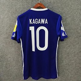 Wholesale Slim Japan - Perfect 2017 JAPAN home authentic as worn by pros player version AAA football shirts slim fit soccer jerseys custrom KAGAWA HASEBE OKAZAKI