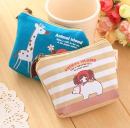 Wholesale Drop Shipping Purses - Cute cartoon oprah girl canvas coin purses zero wallet for child girl women 50pcs drop ship