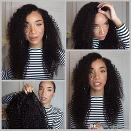 Wholesale Swiss Color - Kinky Curl Peruvian Hair Lace Front Wigs Cheap Price 10mm Curly Wigs For Black Women Natural Color Can Dyed Swiss Lace Small Size Baby Hair