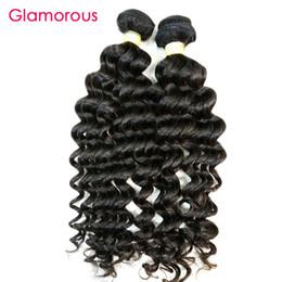Wholesale Deep Wavy Remy Hair - Glamorous Peruvian Human Hair Deep Loose Wave 1Pcs 100g Natural Color Virgin Brazilian Indian Malaysian Wavy Hair Extensions for black women
