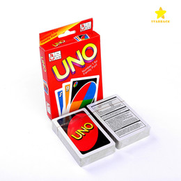 Wholesale Playing Free Poker - 2017 Hot New Popular Entertainment Card Games UNO Card Game Fun Poker Playing Cards Family Funny Board Games Standard DHL Free