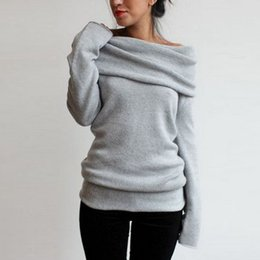 Wholesale Poncho Tricot - Wholesale-2016 Autumn winter women Long sleeve Sweater Pullovers poncho burderry sweater women jumper unif feminino tricot