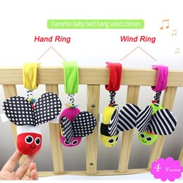 Wholesale Bee Plush Toy - Wholesale- Colorful Bee Stuffed Baby Toy Developmental Infant Mobile In Crib Rattle Baby Rattles Plush Toy Hanging In The Stroller D030