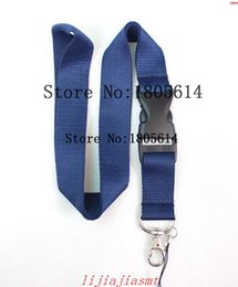 Wholesale Brands Badge Holder - Hot sale Free shipping- 10pcs Detachable ID Badge Holder , lanyard key chain lanyard, Assorted Colors Brand New Dark blue Solid color