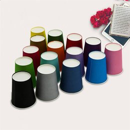 Wholesale paper cup hot - Hot 88mm High Paper Mug Imitation Paper Custom White Breakfast Milk Coffee Cups Creative children DIY dixie cup disposable paper cup IB486
