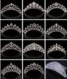 Canada Cristal étincelant Couronne De Mariage De Mariage Couronnes Perle Strass Diadèmes Peignes À Cheveux Épingle À Cheveux 2017 De Luxe Bijoux De Cheveux Accessoires pour la Mariée Offre