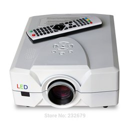 Wholesale Engine Usb - Wholesale- Free shipping ! 1080P LED Optical Engine Technology Portable HD Projector 50,000hurs HDMI&AV&VGA&audio&video&TV&USB