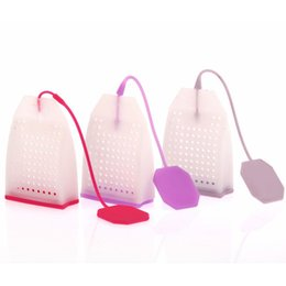 Wholesale Tea Strainer Bags - 1PCS Hot Selling Bag Style Silicone Tea Strainer Herbal Spice Infuser Filter Diffuser Kitchen