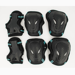 Wholesale Kids Skating Pads - Wholesale- HOT 6pcs set Skating Protective Gear Set Elbow pads Bicycle Skateboard Ice Skating Roller Knee Protector For Adult Kids Gift
