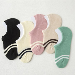 Wholesale Cheap Invisible Socks - 100pairs hot cute cat boat sock women summer anlimal funny sock girls cartoon low cut sweet sokken invisible candy slipper cheap sale sox