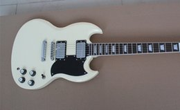 Wholesale Electric Guitar Sg Standard - Wholesale Custom Shop High Quality Mahagany Body SG Standard White Electric Guitar Free Shipping
