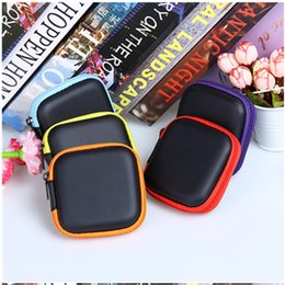 Wholesale Cable Storage Boxes - Mini Zipper Earphone bag portable headphone carrying storage box for charger cable key earphone coin free shipping