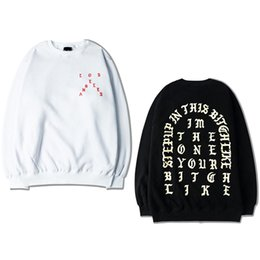 Wholesale Life Size Women - The Life Of Pablo Kanye West sweatshirt for men women long sleeve hip hop autumn casual tops pullover hoodie plus size S-XXXL