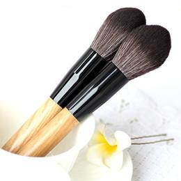Wholesale Hot Sale Beauty Brush - Hot Sales Women Professional Makeup Brush Super Soft Powder Blusher Loose Brush Flame Shape Universal Makeup Blush Beauty Tools