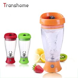 Wholesale Wholesale Plastic Cups For Coffee - Wholesale- Automatic Mixer Cups Electric Self Stirring Mug Ovement Power Protein Shaker Bottle For Water Coffee Milkshake Mixer Mugs